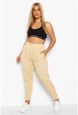 Camel beige Plus Internal Drawstring Jogger