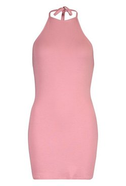Rose Petite Halterneck Mini Dress