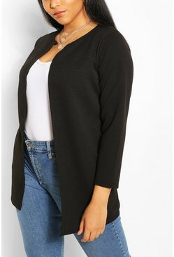 Black Plus Collection Rib Duster