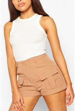 Rust orange Petite Utility Pocket Shorts
