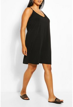 Black Plus Cami Mini Dress