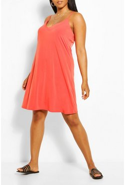 Orange Plus Cami Mini Dress