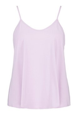 Lilac Plus Basic Strappy Top