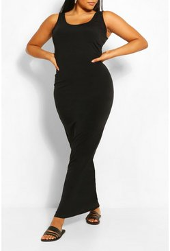 Black Plus Basic Maxi Dress