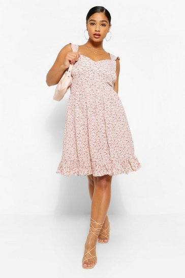 Rose Plus Ditsy Floral Ruffle Sundress