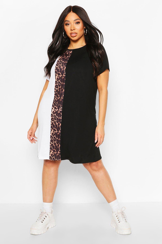 Plus Leopard Stripe T-Shirt Dress 6