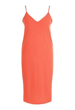 Orange Plus Cami Midi Dress