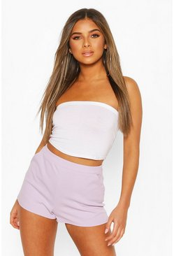 Lilac purple Petite Tailored Shorts