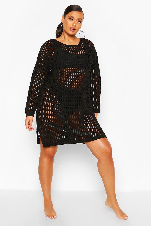 Plus Long Sleeve Slouchy Beach Dress 6