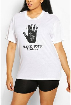 "White Plus 'Make Your Magic"""" T-shirt"