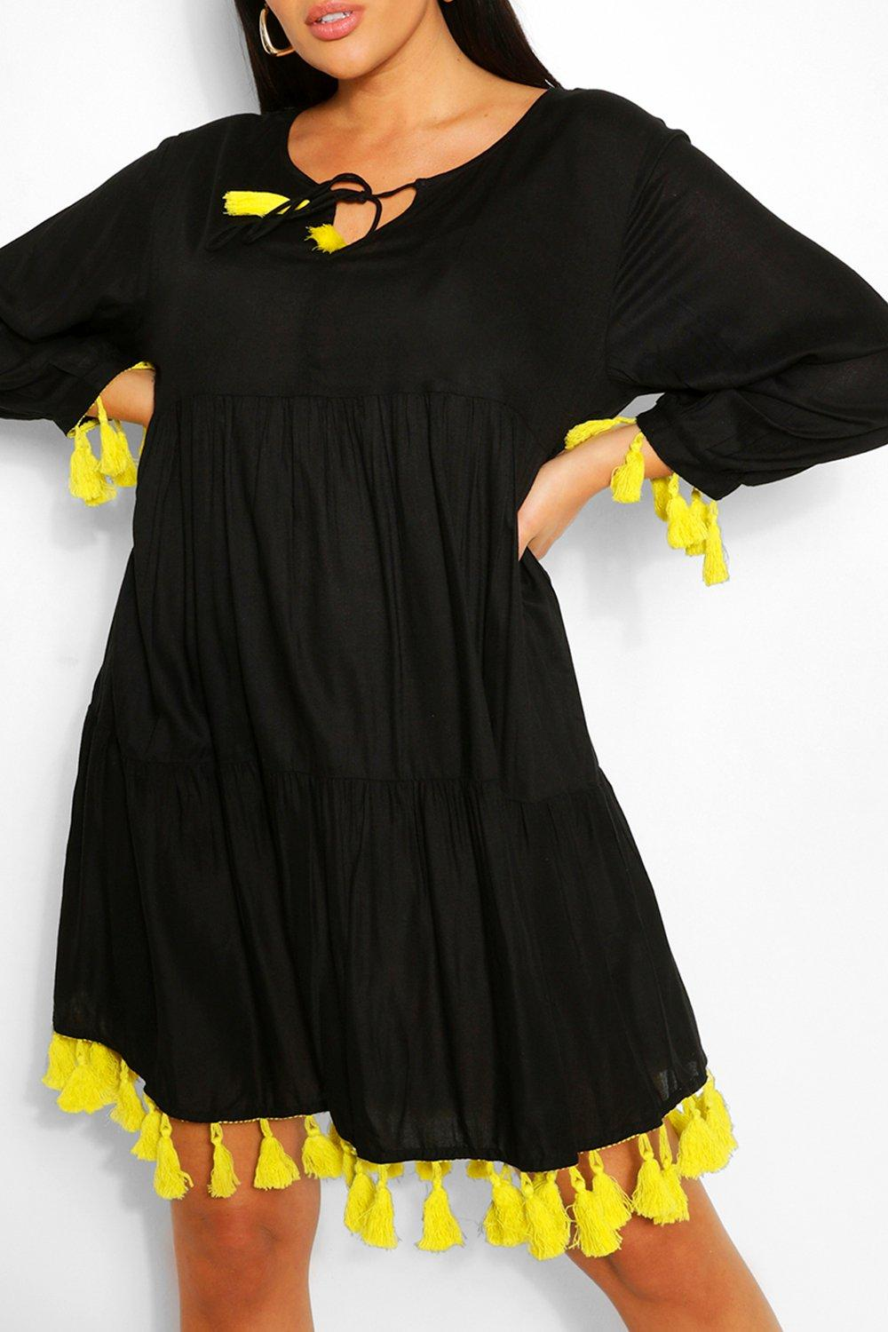 Plus Tassel Beach Smock Dress 6