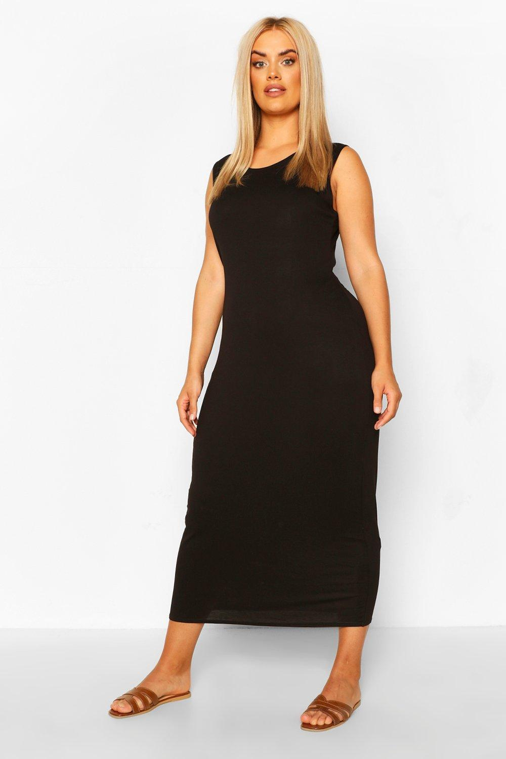 Plus Jersey Scoop Neck Midaxi Dress 15