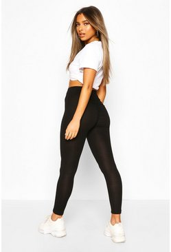 Petite Ruched Bum Leggings, Black nero