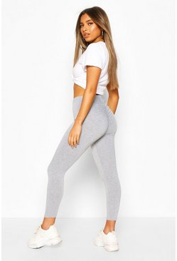 Grey Petite Ruched Bum Leggings