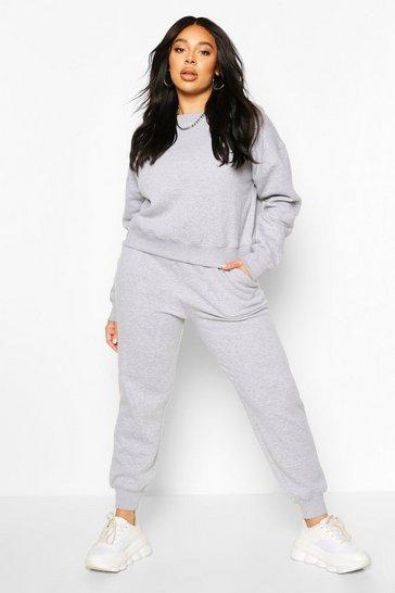 Grey Plus Oversized Joggers
