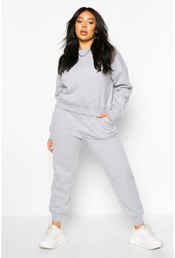 Grey Plus Oversized Joggers