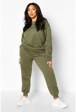 Khaki Plus Oversized Joggers