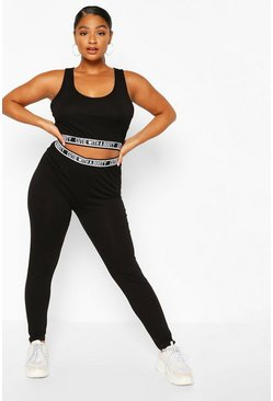 Black Plus 'Cutie With A Booty' Legging Set