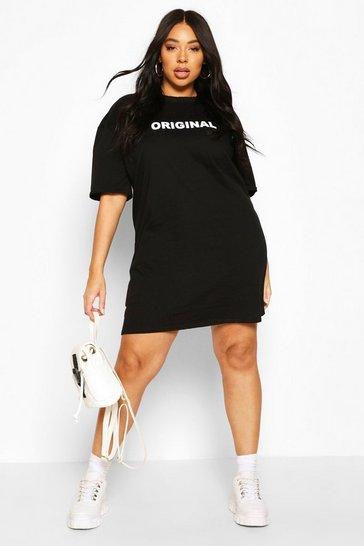 Black Plus Original Oversized T-Shirt Dress