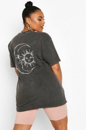 Black Plus Sun and Moon T-Shirt