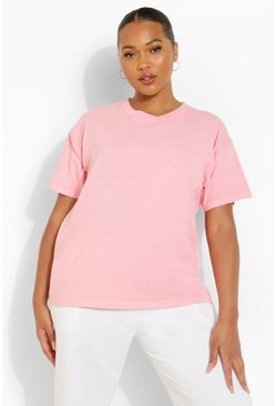 Pink Plus Oversized Washed T-Shirt