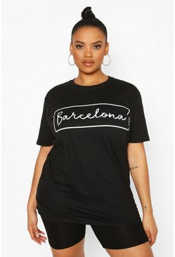 Black Plus 'Barcelona' Oversized T-shirt