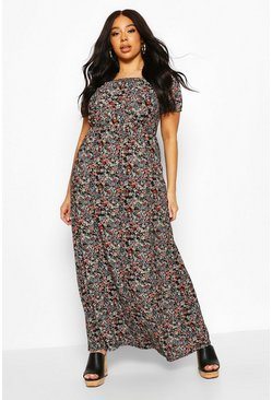 Black Plus Bardot Maxi Dress
