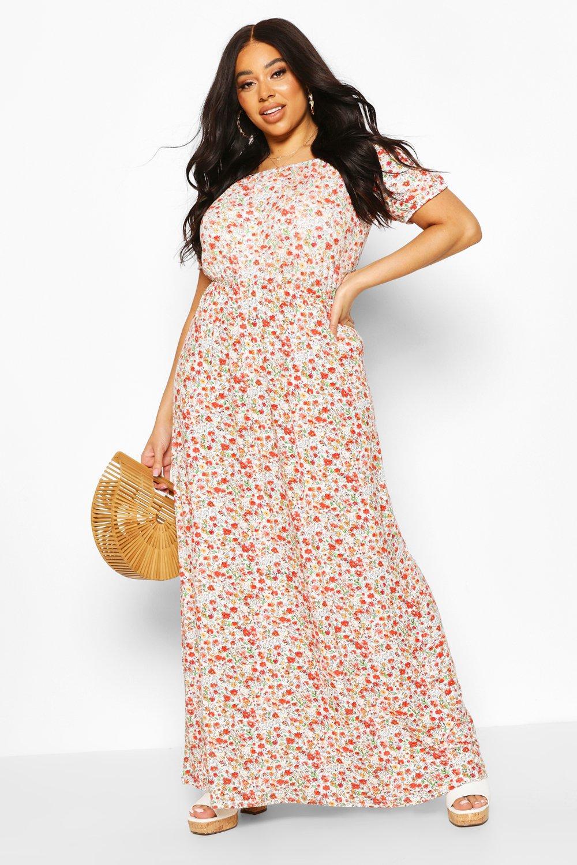 Plus Bardot Maxi Dress 8