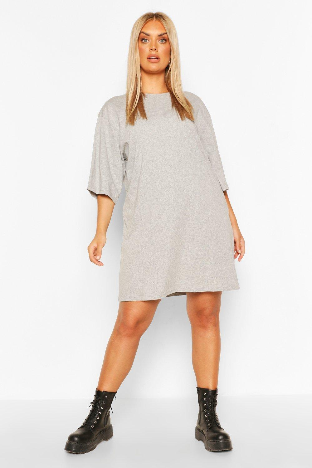 Plus Drop Armhole T-shirt Dress 12