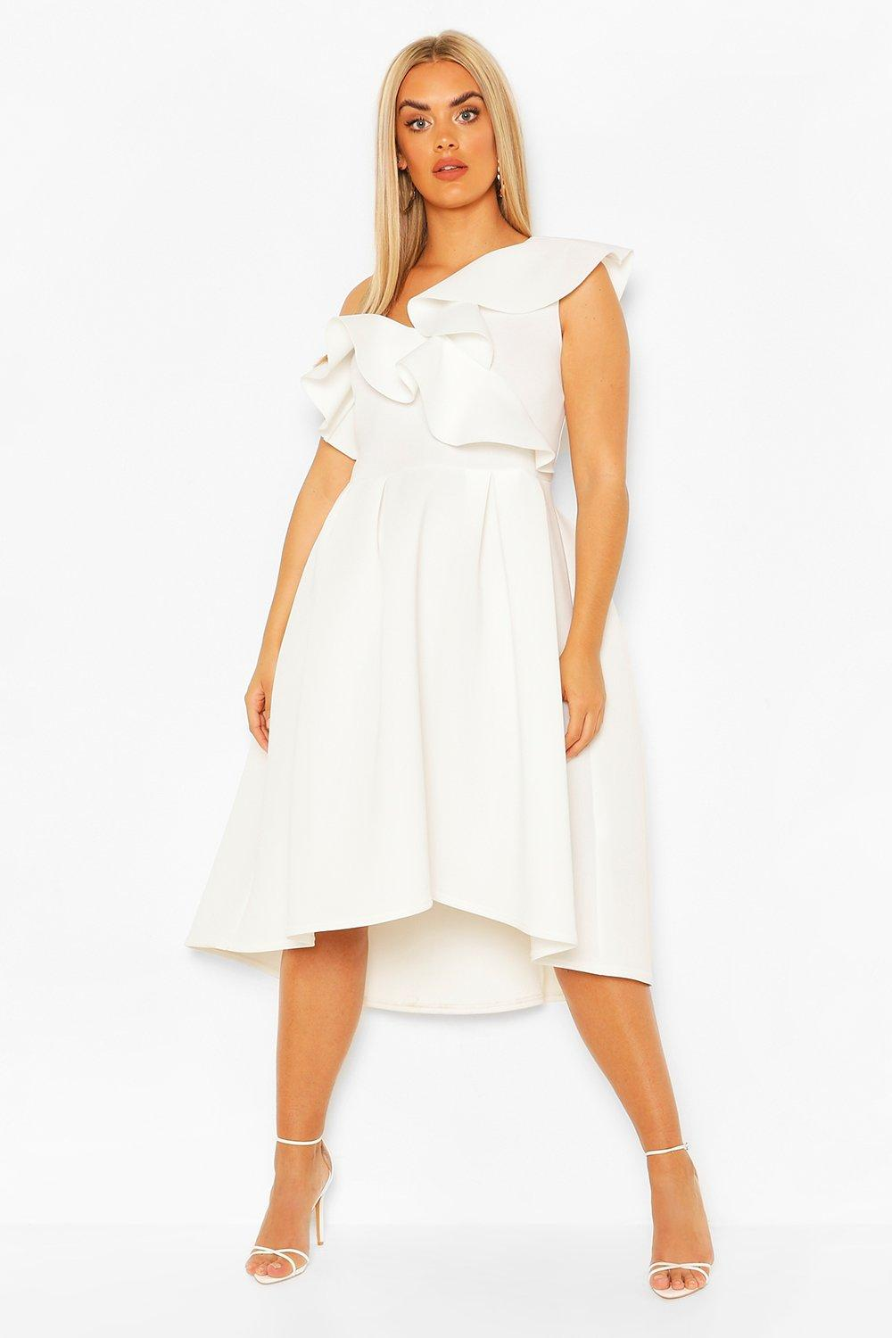 Plus Broiderie Anglais Belted Smock Dress 7
