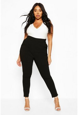 Black Plus Super Stretch Fitted Trouser