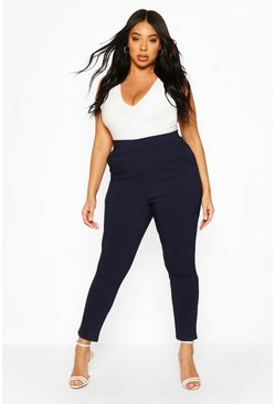 Navy Plus Super Stretch Fitted Trouser