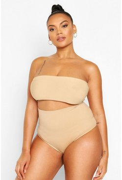 Nude Plus High Waisted Control Thong