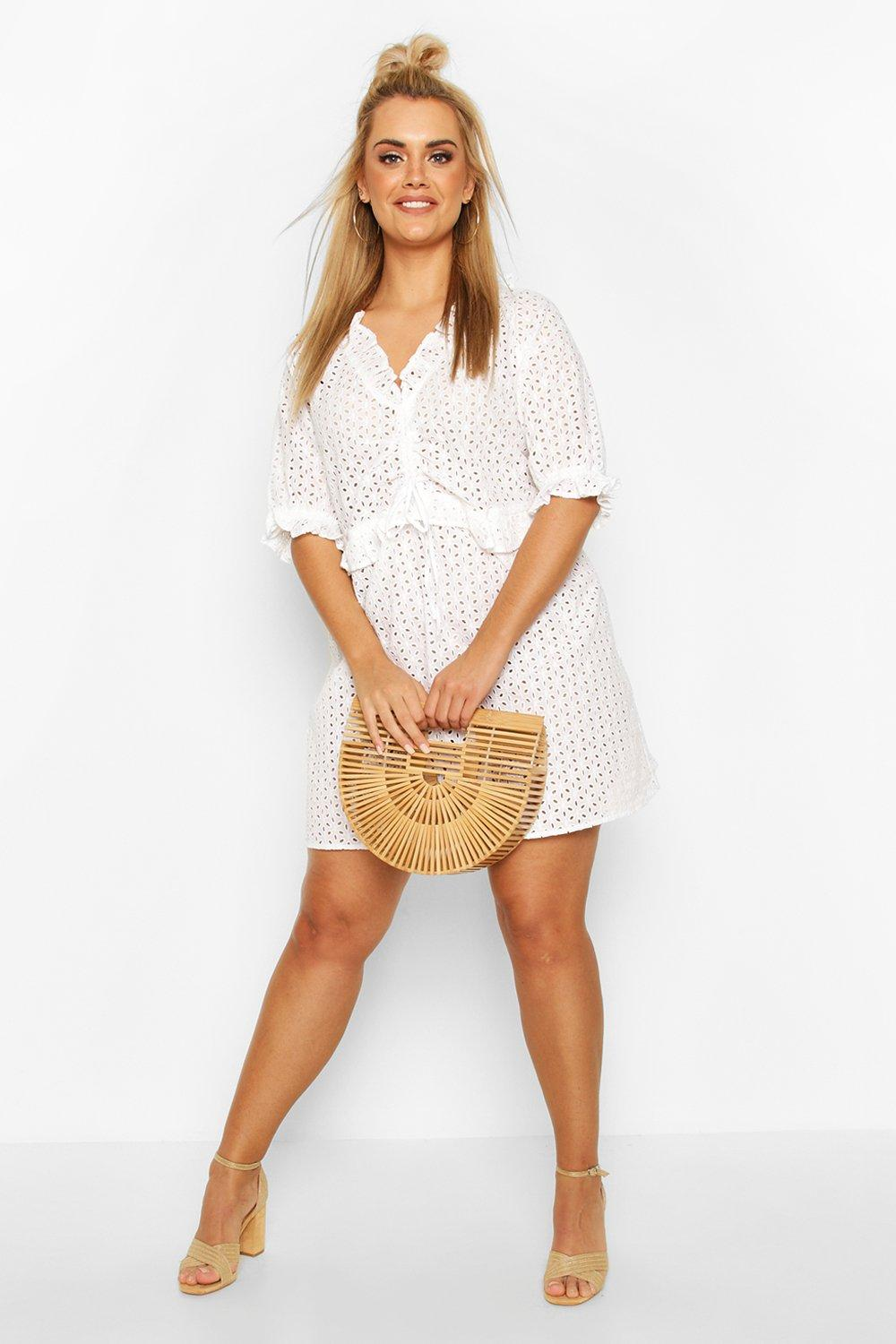 Plus Broiderie Anglais Beach Dress 8