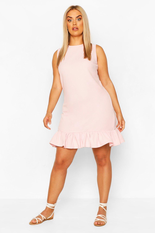 Plus Ruffle Hem Sleeveless Shift Dress 6