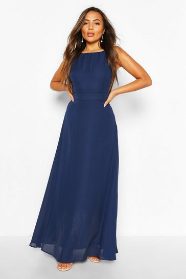 Navy Petite Occasion Maxi Dress