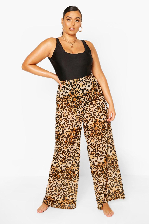 Plus Beach Leopard Print Trouser 6