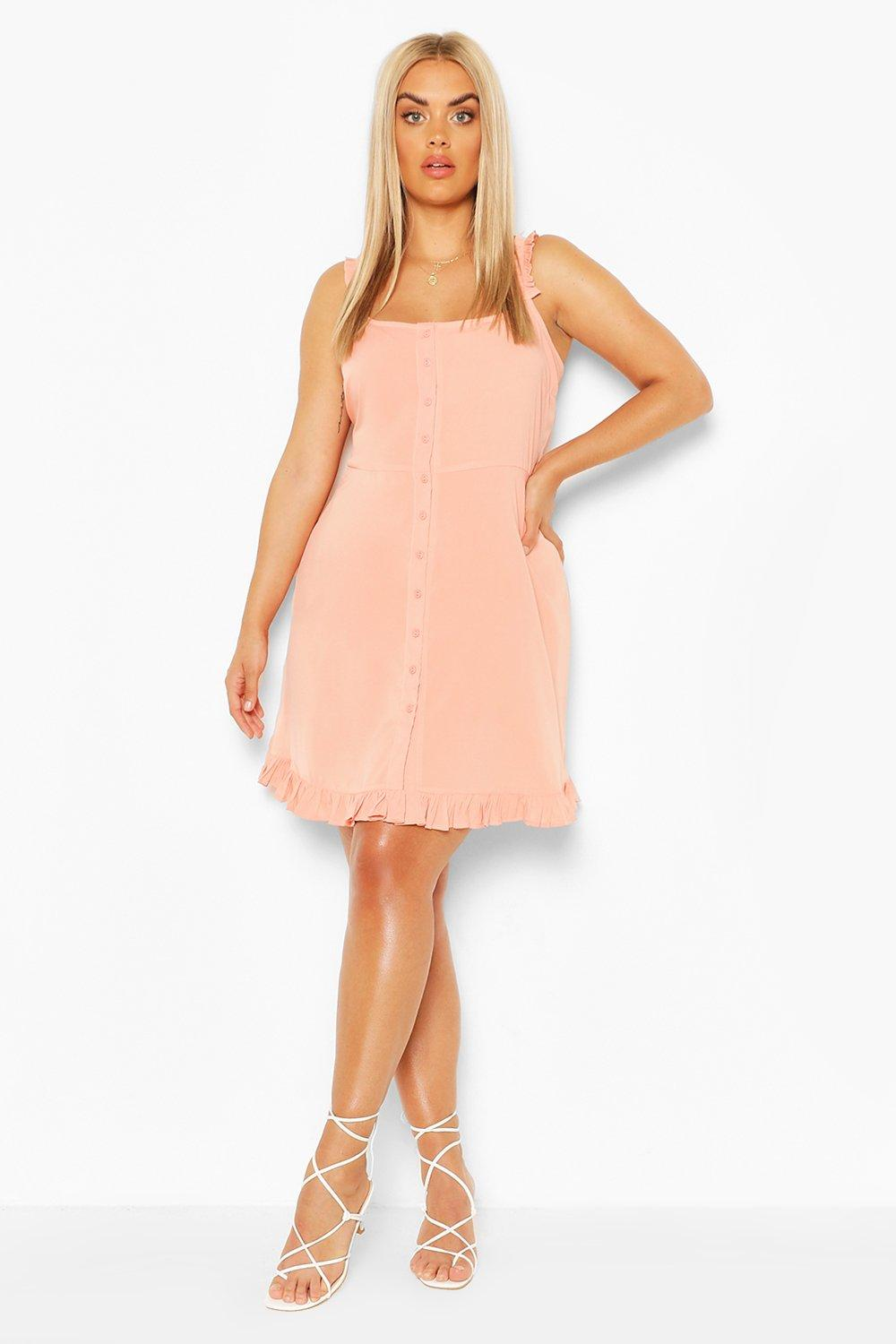 Plus Ruffle Hem Sun Dress 3