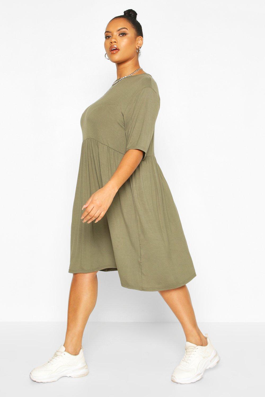 Plus Jersey Smock Dress 8