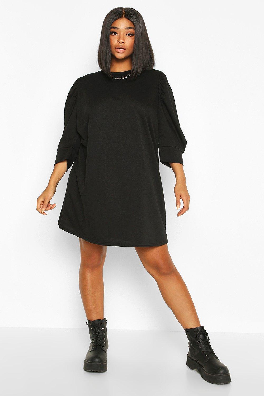 Plus Puff Sleeve Sweat Dress 8