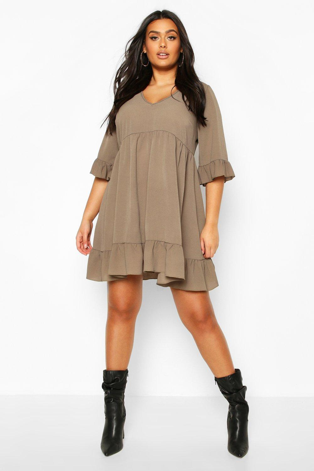 Plus Ruffle Smock Dress 7
