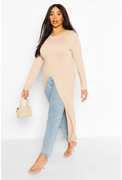 Stone Plus Front Split Maxi Top
