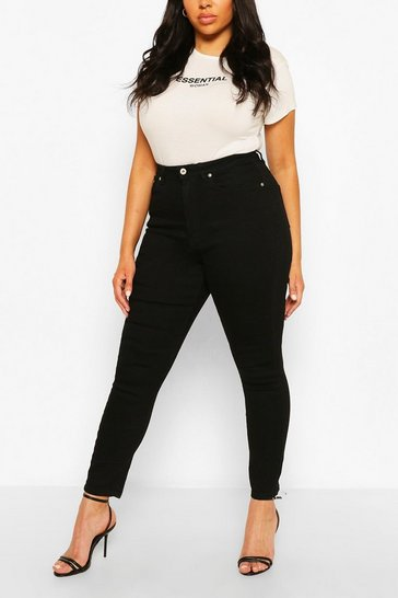 Black Plus Butt Shaper High Rise Skinny Jean