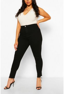 Black Plus Power Stretch High Rise Disco Jegging