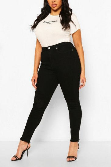 Black Plus Power Stretch High Rise Disco Legging