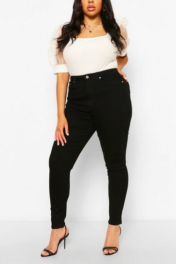 Black Plus High Rise Skinny Jean