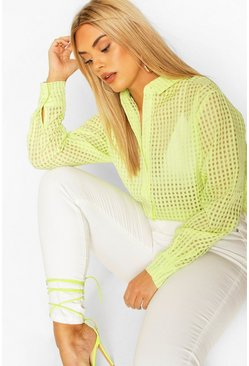 Lime Plus Sheer Check Shirt