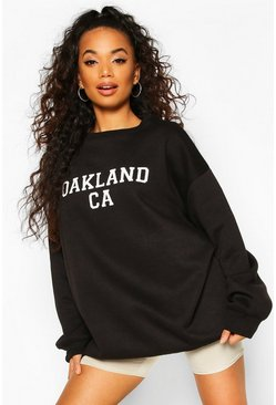 Black Petite Oakland Oversized Sweat