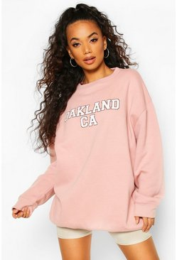 Pink Petite Oakland Oversized Sweat