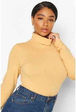Nude Plus Basic Roll Neck Longsleeve Bodysuit